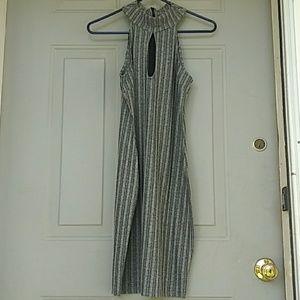 Gray and white medium sized dress